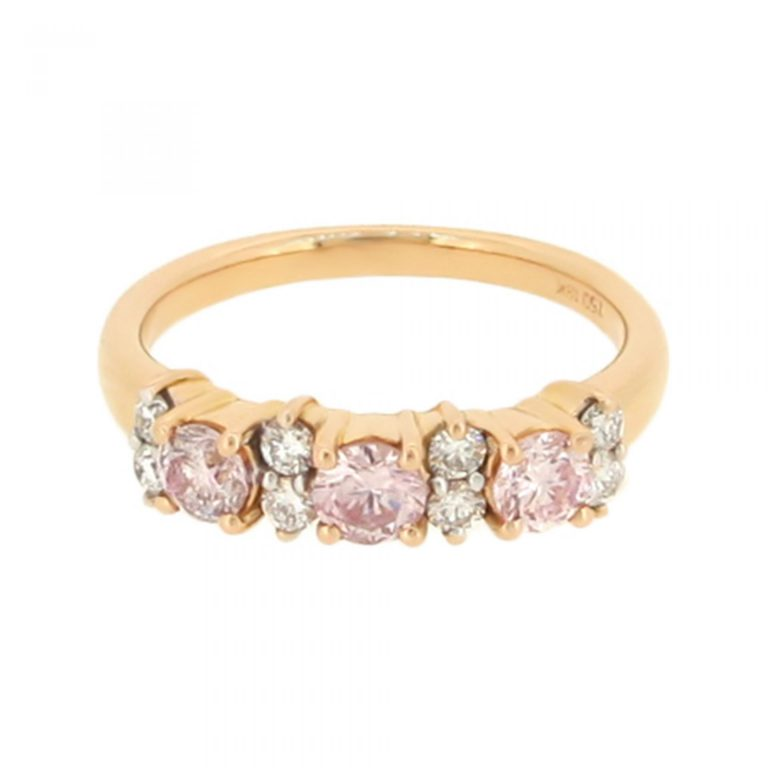 Pink Diamond Rose Gold Ring