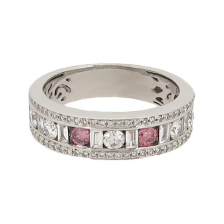 Stunning pink Diamond Band