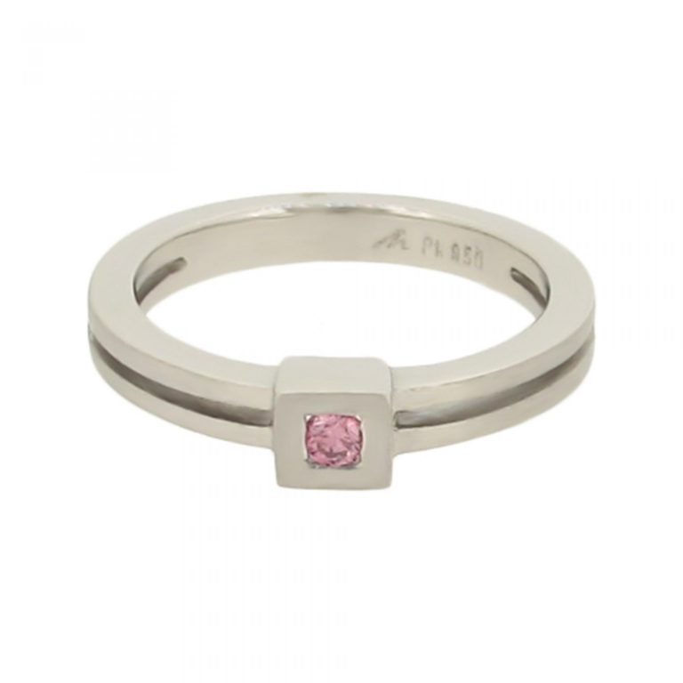 Modern Pink Diamond Ring
