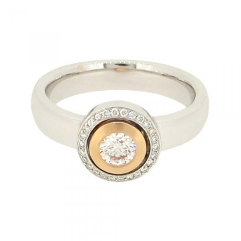 Modern Halo Diamond Ring