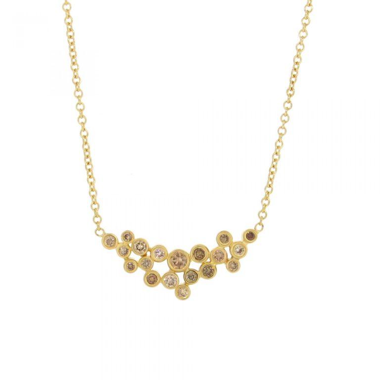 Mixed Champagne Diamond Necklace