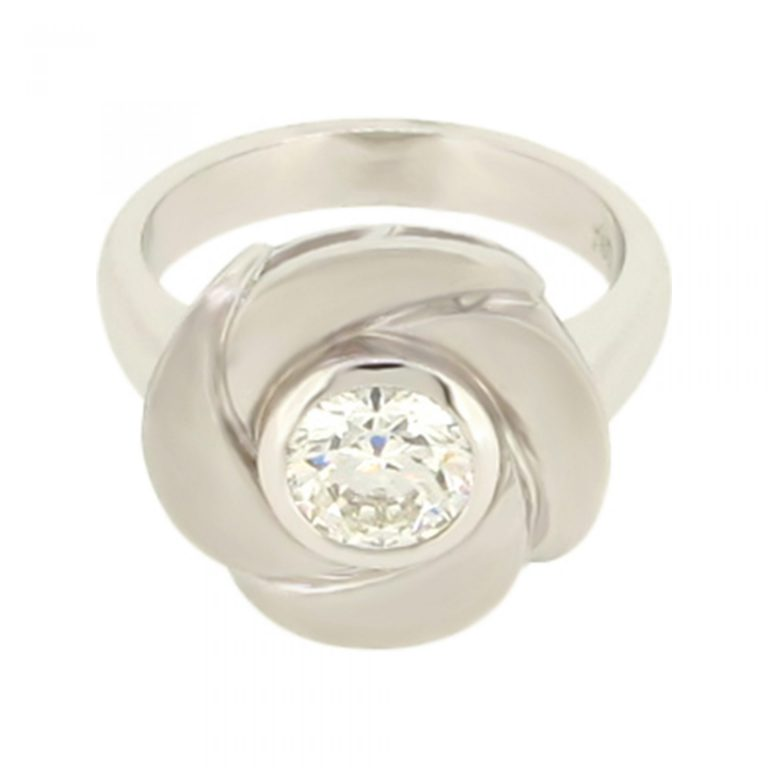 Large Diamond Flower Ring