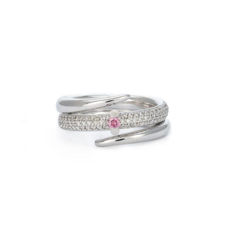 Pink Diamond Statement Ring