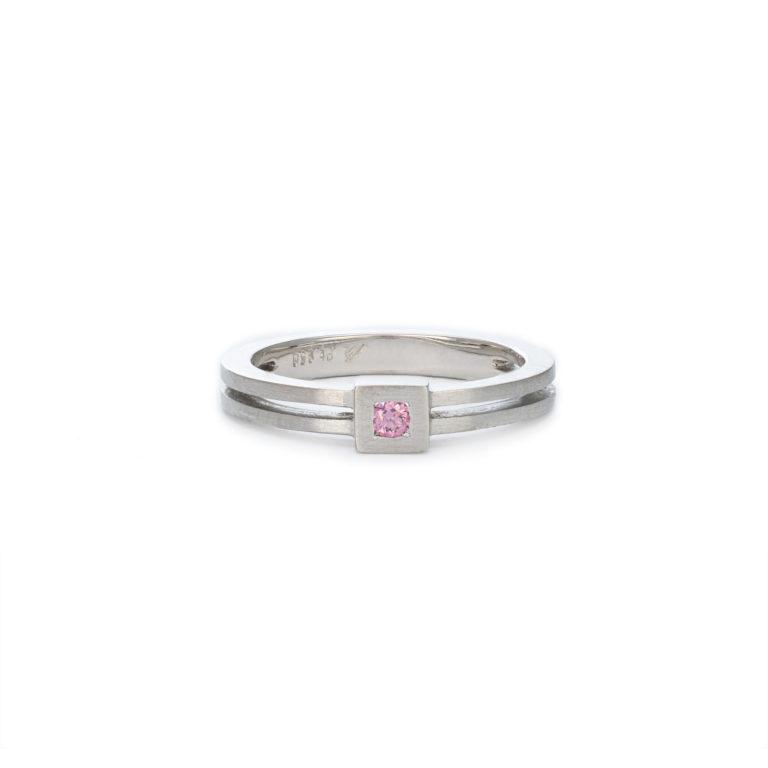 Modern Pink Diamond Ring