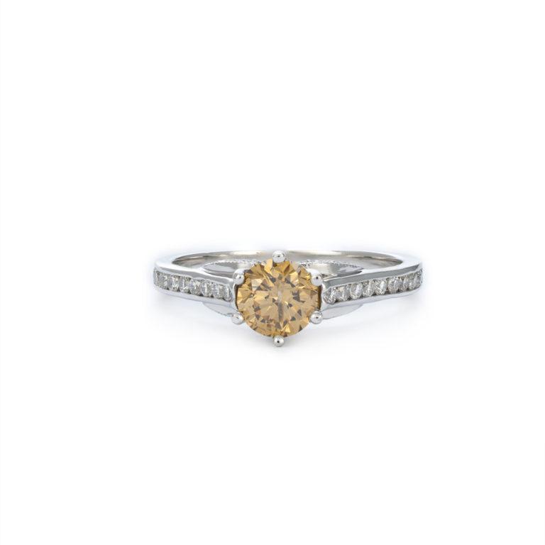 Stunning Champagne Diamond Engagement Ring