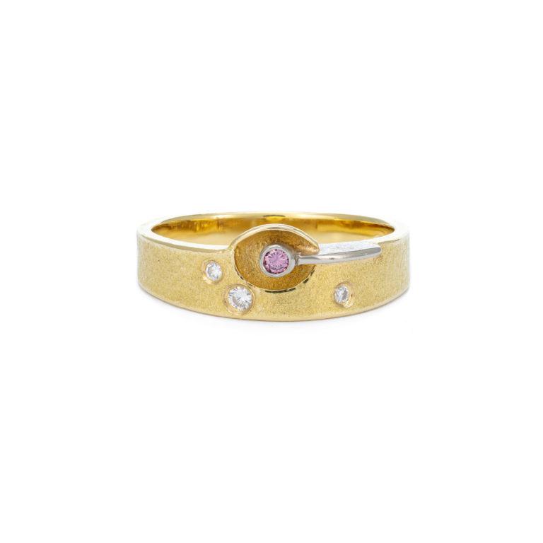 Unique Pink Diamond Ring