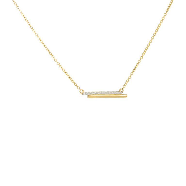 Modern Yellow gold diamond Necklace