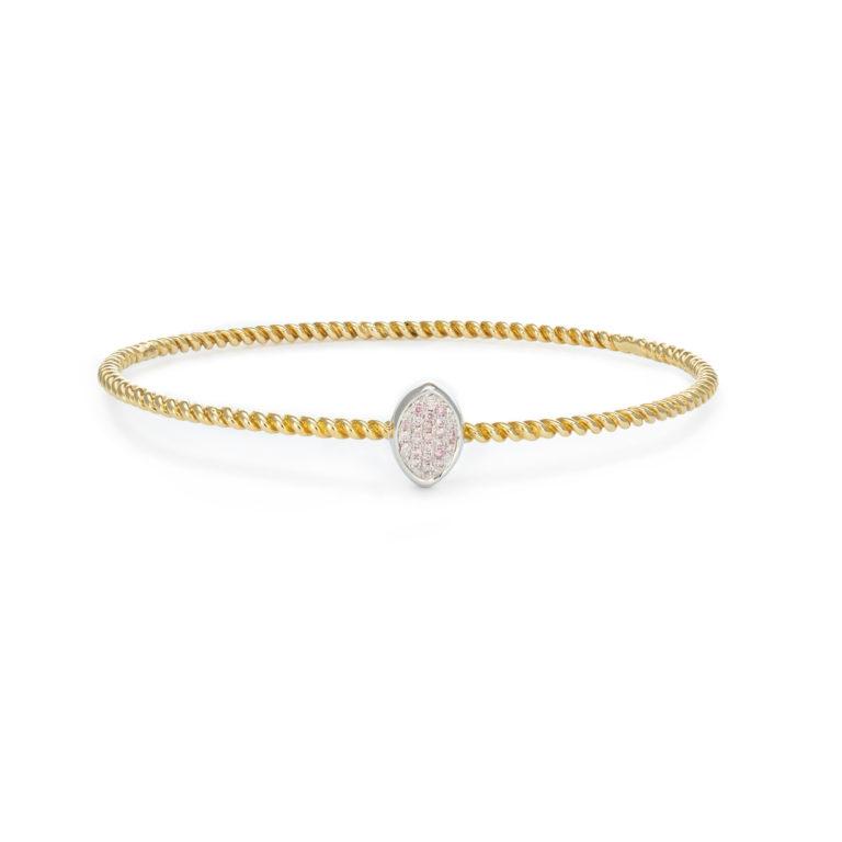 Pink diamond bangle