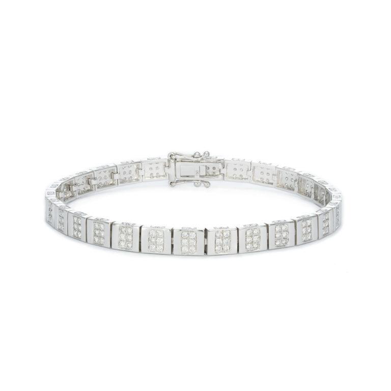 Modern White gold White diamond Bracelet