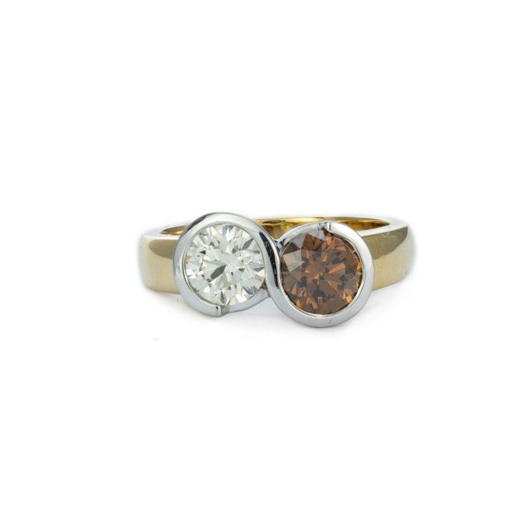 Champagne Diamond Statement Ring